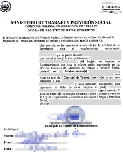 Eregulations Tr Mites El Salvador