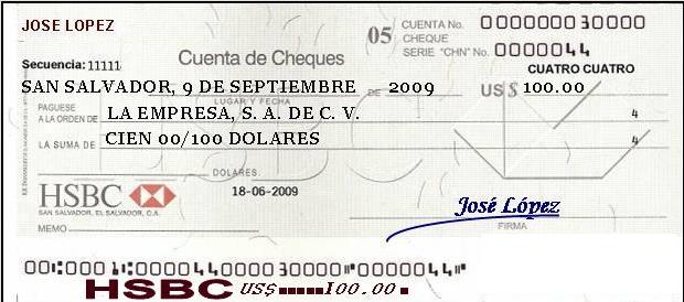 comment remplire un cheque